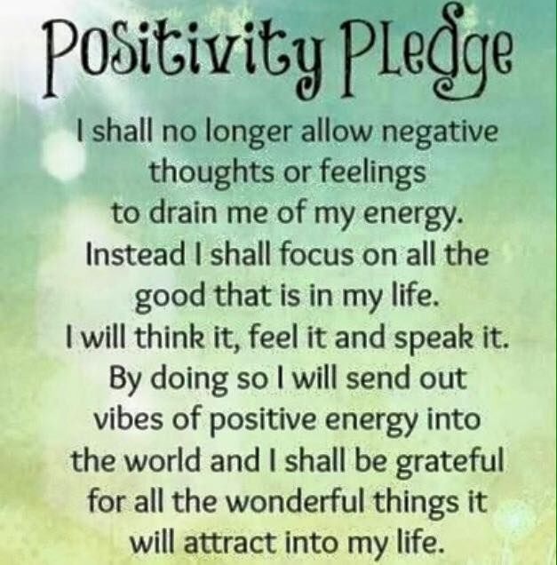 positvity pledge